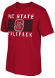 North Carolina State Wolfpack Adidas NCAA Big Pattern Men's Short Sleeve T-Shirt