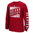 "Indiana Hoosiers Adidas NCAA ""Raised Varsity"" Men's Long Sleeve T-shirt"