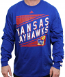 "Kansas Jayhawks Adidas NCAA ""Raised Varsity"" Men's Long Sleeve T-shirt"