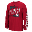 "Nebraska Cornhuskers Adidas NCAA ""Raised Varsity"" Men's Long Sleeve T-shirt"