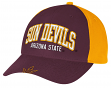 "Arizona State Sun Devils Adidas NCAA ""Fan Gear"" Structured Adjustable Hat"