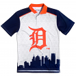 "Detroit Tigers MLB ""Thematic"" Skyline Men's Polo Shirt"