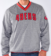 """San Francisco 49ers NFL G-III """"Coin Toss"""" Wordmark Pullover Embroidered Jacket"""