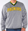 "Green Bay Packers NFL G-III ""Coin Toss"" Wordmark Pullover Embroidered Jacket"