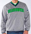 "Seattle Seahawks NFL G-III ""Coin Toss"" Wordmark Pullover Embroidered Jacket"