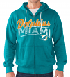 "Miami Dolphins NFL G-III ""Swingman"" Full Zip Hooded French Terry Sweatshirt"