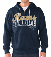 "St. Louis Rams NFL G-III ""Swingman"" Full Zip Hooded French Terry Sweatshirt"