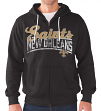"New Orleans Saints NFL G-III ""Swingman"" Full Zip Hooded French Terry Sweatshirt"