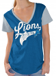 "Detroit Lions Women's G-III NFL ""Catch"" Cotton Slub V-neck T-shirt"