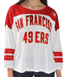 "San Francisco 49ers Women's G-III NFL ""Hail Mary"" Tri-blend 3/4 Sleeve T-shirt"