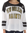 "New Orleans Saints Women's G-III NFL ""Hail Mary"" Tri-blend 3/4 Sleeve T-shirt"