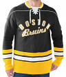 "Boston Bruins NHL Men's G-III ""Defenseman"" Knit Rib Crew Skate Lace Shirt"