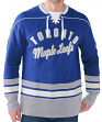 "Toronto Maple Leafs NHL Men's G-III ""Defenseman"" Knit Rib Crew Skate Lace Shirt"