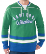 "Hartford Whalers NHL Men's G-III ""Defenseman"" Knit Rib Crew Skate Lace Shirt"