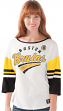"Boston Bruins Women's G-III NHL ""Playmaker"" 3/4 Sleeve Scoop Neck T-shirt"