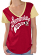 "Florida State Seminoles Women's G-III NCAA ""Catch"" Cotton Slub V-neck Shirt"