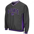 "Kansas State Wildcats NCAA ""Fair Catch"" Pullover Men's Jacket - Charcoal"