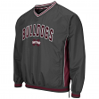 "Mississippi State Bulldogs NCAA ""Fair Catch"" Pullover Men's Jacket - Charcoal"