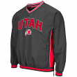 "Utah Utes NCAA ""Fair Catch"" Pullover Men's Jacket - Charcoal"