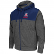 "Arizona Wildcats NCAA ""Tread"" Full Zip Hooded Men's Sweatshirt - Charcoal"