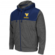 "West Virginia Mountaineers NCAA ""Tread"" F/Zip Hooded Men's Sweatshirt - Charcoal"