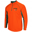 "Miami Hurricanes NCAA ""Lineman"" 1/4 Zip Pullover Raglan Men's Shirt"