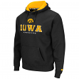"Iowa Hawkeyes NCAA ""Zone II"" Pullover Hooded Men's Sweatshirt - Black"