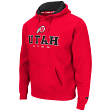 "Utah Utes NCAA ""Zone II"" Pullover Hooded Men's Sweatshirt - Red"