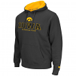 "Iowa Hawkeyes NCAA ""Zone II"" Pullover Hooded Men's Sweatshirt - Charcoal"