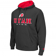 "Utah Utes NCAA ""Zone II"" Pullover Hooded Men's Sweatshirt - Charcoal"
