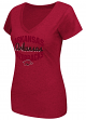 "Arkansas Razorbacks Women's NCAA ""Gamma"" V-neck Dual Blend T-Shirt"