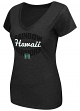 "Hawaii Warriors Women's NCAA ""Gamma"" V-neck Dual Blend T-Shirt"