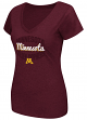 "Minnesota Golden Gophers Women's NCAA ""Gamma"" V-neck Dual Blend T-Shirt"