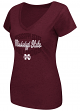 "Mississippi State Bulldogs Women's NCAA ""Gamma"" V-neck Dual Blend T-Shirt"