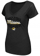 "Missouri Tigers Women's NCAA ""Gamma"" V-neck Dual Blend T-Shirt"