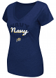 "Navy Midshipmen Women's NCAA ""Gamma"" V-neck Dual Blend T-Shirt"