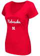 "Nebraska Cornhuskers Women's NCAA ""Gamma"" V-neck Dual Blend T-Shirt"
