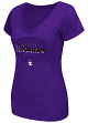 "Northwestern Wildcats Women's NCAA ""Gamma"" V-neck Dual Blend T-Shirt"