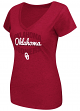 "Oklahoma Sooners Women's NCAA ""Gamma"" V-neck Dual Blend T-Shirt"