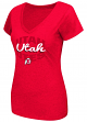 "Utah Utes Women's NCAA ""Gamma"" V-neck Dual Blend T-Shirt"