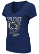 "Penn State Nittany Lions Women's NCAA ""Delorean"" V-neck Speckle Yarn T-Shirt"