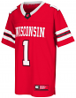 "Wisconsin Badgers NCAA Youth ""Spike It"" Football Jersey"