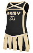 "Army Black Knights NCAA Toddler ""Handspring"" 2 Piece Set Cheerleader Outfit"