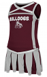 """Mississippi State Bulldogs Toddler """"Handspring"""" 2 Piece Set Cheerleader Outfit"""