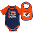 "Auburn Tigers NCAA Infant ""Rookie"" Onesie w/Bib Set"