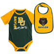 "Baylor Bears NCAA Infant ""Rookie"" Onesie w/Bib Set"
