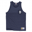 Detroit Tigers Mitchell & Ness MLB Tonal Stripe Dual Blend Tank Top Shirt
