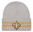 "New Orleans Saints New Era NFL ""2 Striped Cuff"" Cuffed Knit Hat"