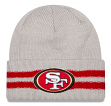 "San Francisco 49ers New Era NFL ""2 Striped Cuff"" Cuffed Knit Hat"