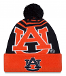 Auburn Tigers New Era NCAA Logo Whiz Cuffed Knit Hat with Pom